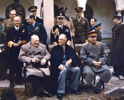 conferenza di yalta a colori