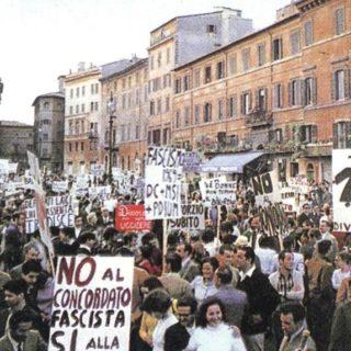manifestazione divorzio 1974