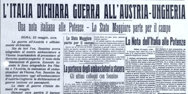 L'Italia entra nella Prima guerra mondiale, 24 maggio 1915