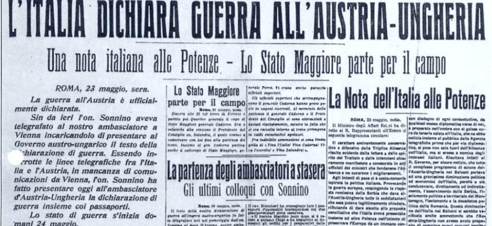 Italia dichiara guerra all'Austria