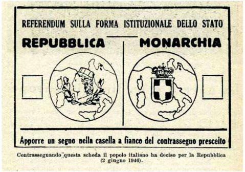 scheda referendum 2 giugno 1946
