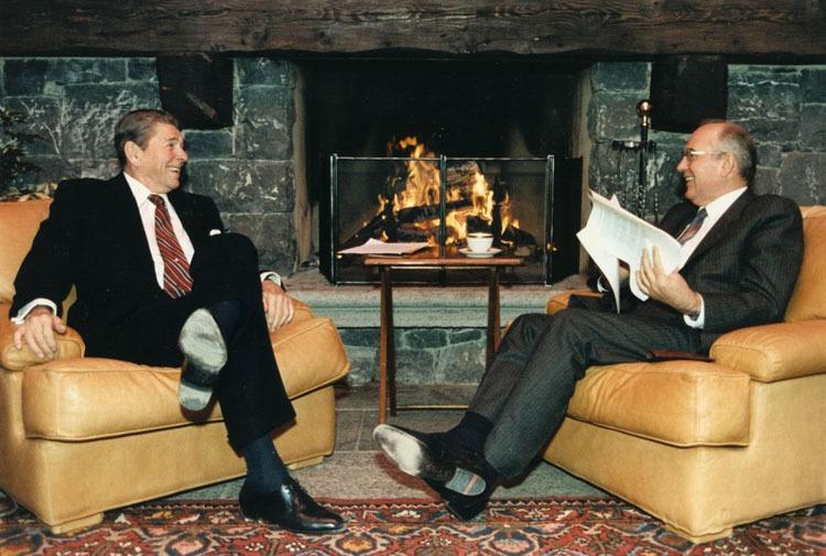 Reagan e Gorbaciov a Ginevra