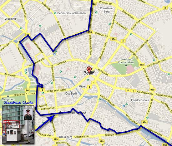 mappa muro di berlino