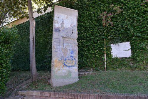 muro berlino giardini vaticani