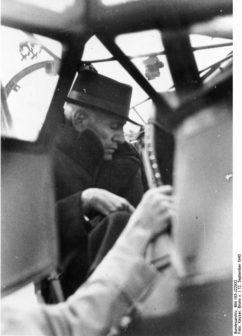 Mussolini sullo Storch