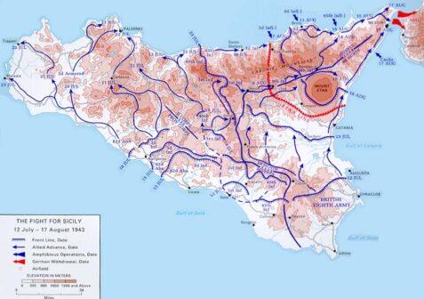 Mappa conquista Sicilia