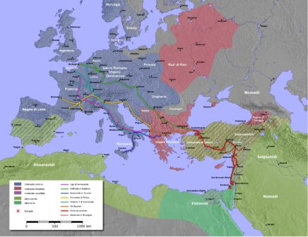 mappa contingenti prima crociata