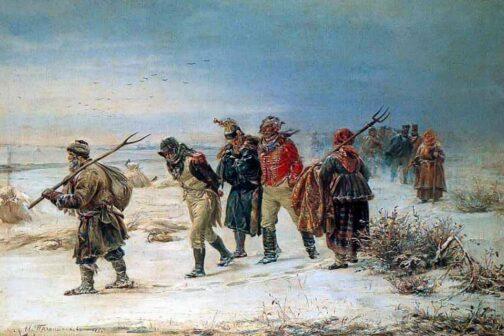 ritirata dalla russia napoleone quadro