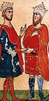 Federico incontra il sultano al-Malik al-Kamil