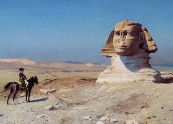 Napoleone Bonaparte davanti alla sfinge di Giza