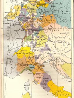 Trattato di Campoformio Mappa