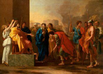 N. POUSSIN, La clemenza di Scipione (dopo l'assedio di Carthago Nova)